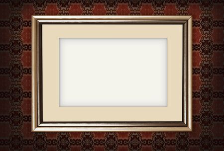 Art photo frame on old wall photo