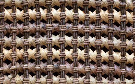 brown rattan wicker texture as background Stock Photo - 7882199