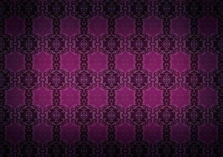 Seamless Damask  old pattern Stock Photo - 7899624