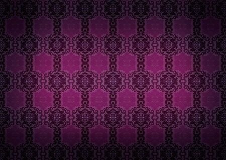 Seamless Damask  old pattern Stock Photo - 7899624