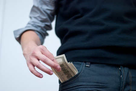 excess:  money in a pocket. cash business
