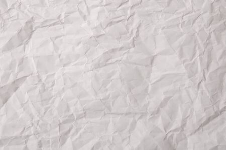 texture of white crumpled paper full frame Stock Photo - 12458685