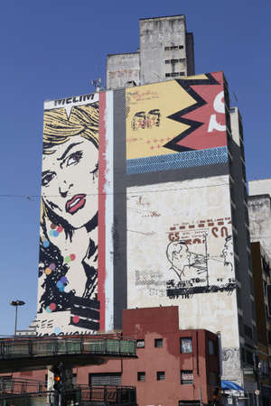 graffite art street in downtown of sao paulo, brazil