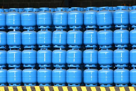gas cylinder storage for delivery Stock Photo - 18365105