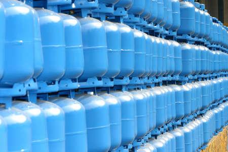 cilindro de almacenamiento de gas para la entrega Foto de archivo