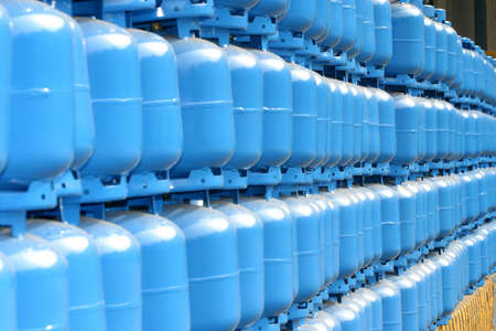 propane gas: gas cylinder storage for delivery