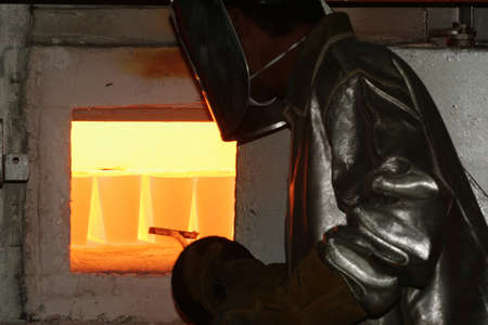 gold manufacture in metallurgic industry photo