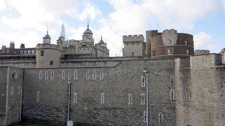 castello medievale: castello medievale a Londra, Inghilterra Archivio Fotografico