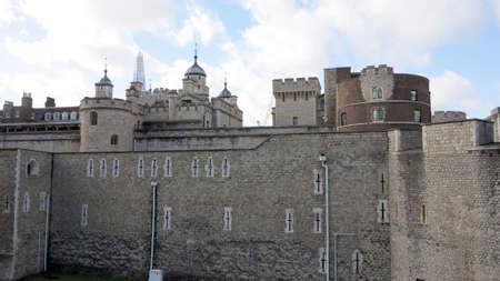 medieval castle in london, england                           photo
