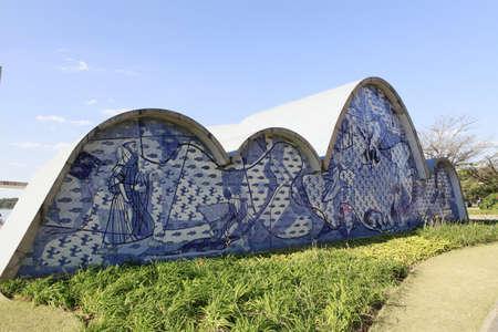 Saint francis church  design of oscar niemeyer and paint of candido portinari in minas gerais, brazil