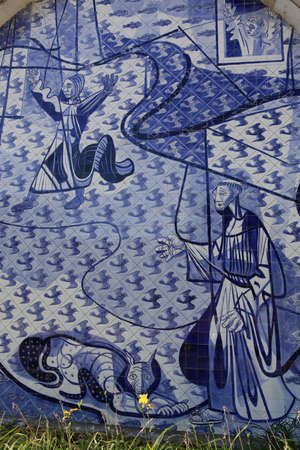 oscar niemeyer: Saint francis church  design of oscar niemeyer and paint of candido portinari in minas gerais, brazil