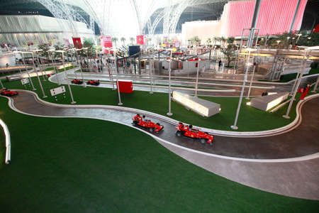 Ferrari World Theme Park in Abu Dhabi, United Arab Emirates