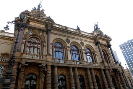 municpal theatre in sao paulo brazil photo