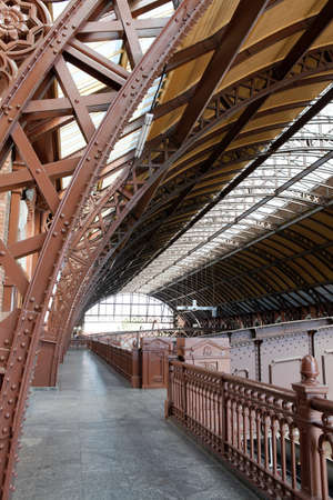 structure of old train station in sao paulo brazil