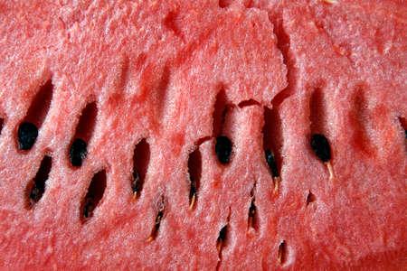 ccloseup: close up of water mellon with seeds