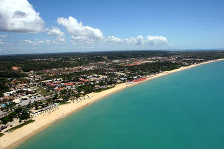 air view of porto seguro, bahia, brazil