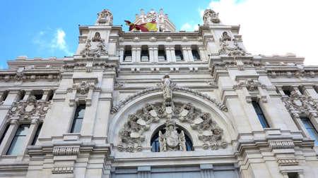 palacio de comunicaciones: Central Post office building, Palacio de Comunicaciones, Madrid  Spain  Stock Photo