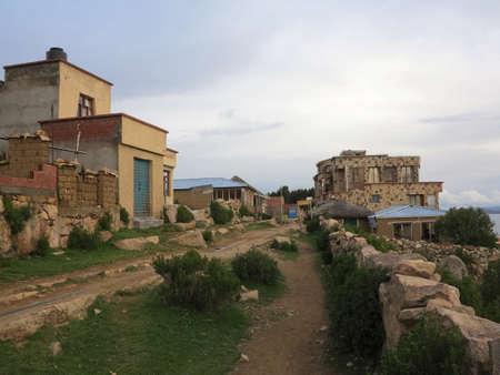 copacabana, titicaca lake, border of bolivia and peru                                photo