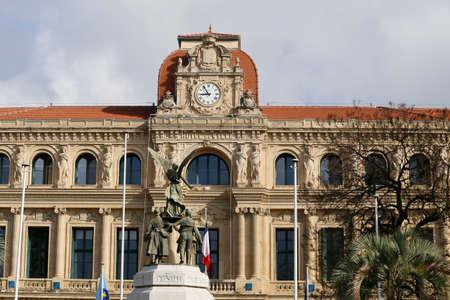 ville: Hotel de ville of Cannes on the cote dazur (south of France) Editorial