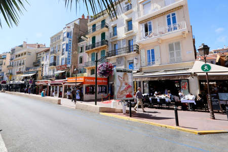 boulevard in cannes, french riviera, south of france Editorial