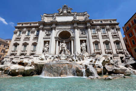 fontana di trevi, rome, italy photo