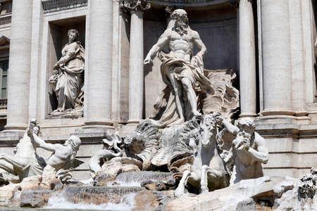fontana: detail of fontana di trevi, rome, italy