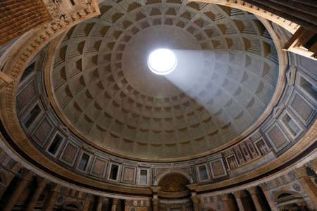 View of the interior of the Pantheon, Rome, Italy