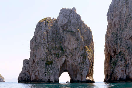 natural landmark: Beautiful natural landmark off the shore of the Isle of Capri in Italy