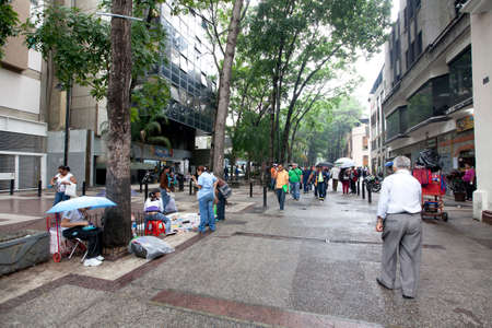 caracas: street view in downtown caracas, venezuela Editorial