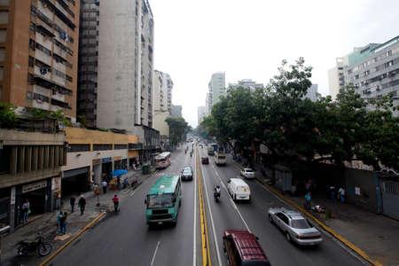 transit in downtown, caracas, venezuela