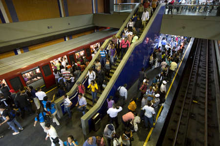 caracas: metropolitan station in downtown caracas, venezuela Editorial