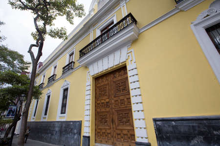 caracas: historical house in downtown caracas, venezuela Editorial