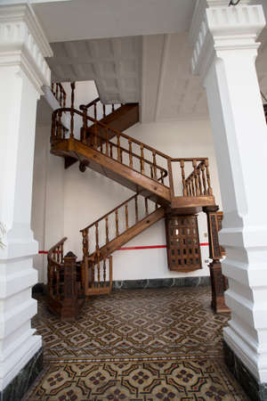 caracas: stair in museum in downtown of caracas, venezuela Editorial