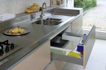 organized home: new drawer in modern kitchen
