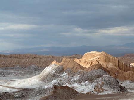 view of desert of atacama, chile photo