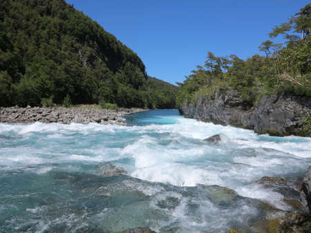 Petrohue waterfalls in Vicente Perez Rosales National Park. photo