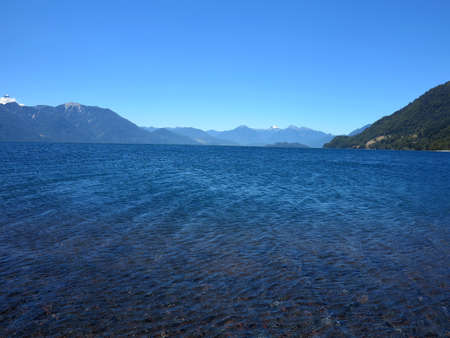 rosales: lake in Vicente Perez Rosales National Park, chile