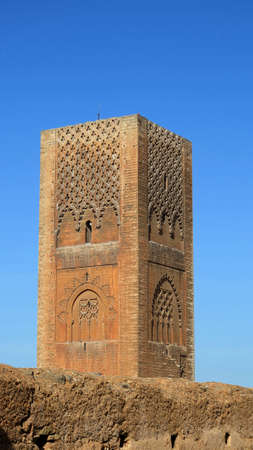 The Hassan Tower (tour hassan) in Rabat, Morocco photo