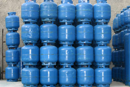 gas cylinder: domestics gas cylinder storage for use Stock Photo
