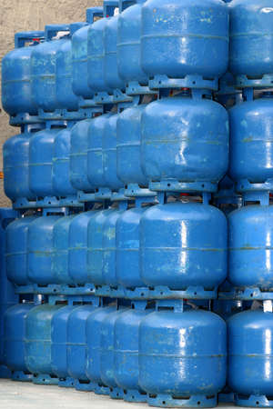 domestics: domestics gas cylinder storage for use Stock Photo