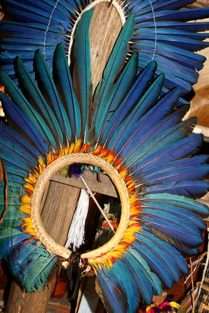 traditional culture: brazilian traditional headdress used in decoration Stock Photo