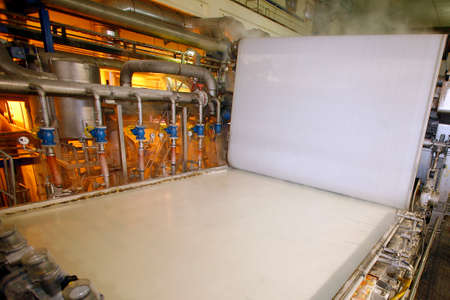industrial process to production of paper Imagens