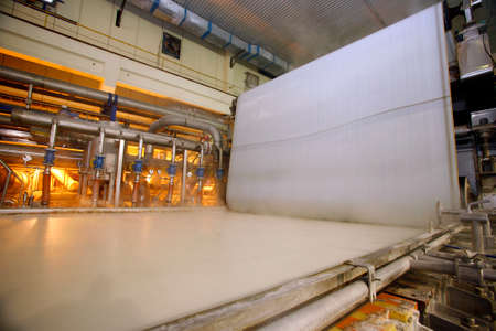 industrial process to production of paper