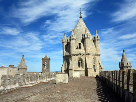 patrimony: The Gothic tower of Evoras XIII century cathedral. The city of Evora has an extremely rich historical patrimony - a UNESCO world heritage location.