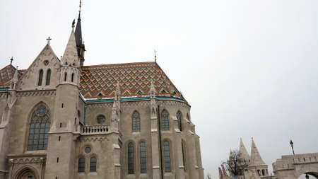 gothic style: church in gothic style in budapest, hungary