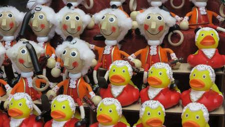 souvenir traditional: traditional dolls souvenir in salzburg, austria