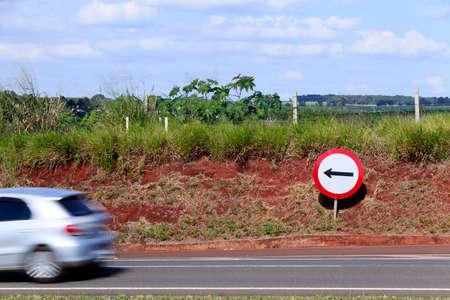 transit: directional transit signal in rural road