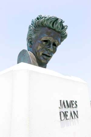 griffith: bust of James Dean on griffith observatory were filmed Rebel Without a Cause. Deans premature death in 1955 on car crash cemented his legendary status