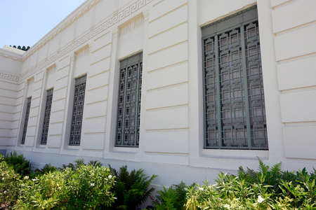 griffith: facade of griffith observatory in los angeles, usa date 31052015