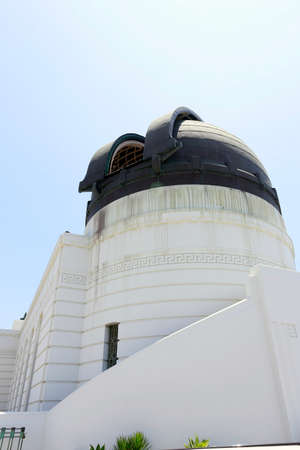 griffith: dome of griffith observatory in los angeles, usa date 31052015 Stock Photo